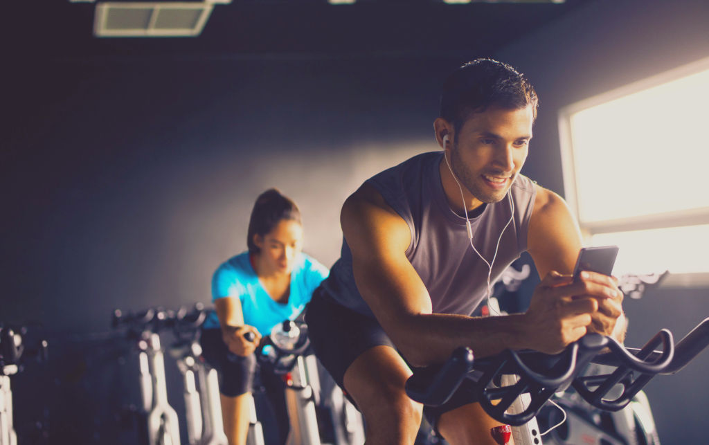 Audio indoor cycling workouts with CardioCast